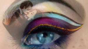 Israeli Woman Creates Attractive Art: Painting or Eye Makeup?